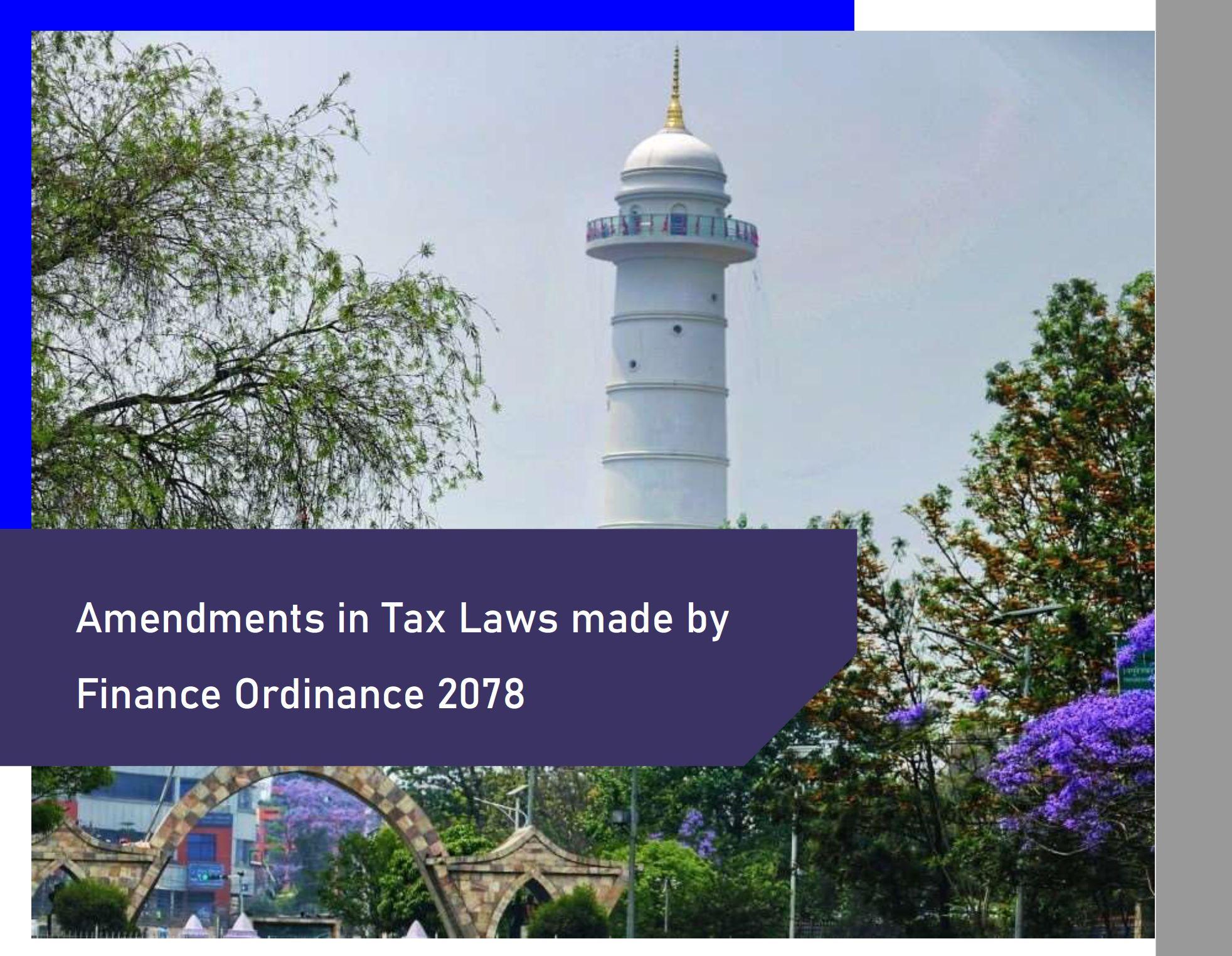 Amendment in Tax Laws- 2078